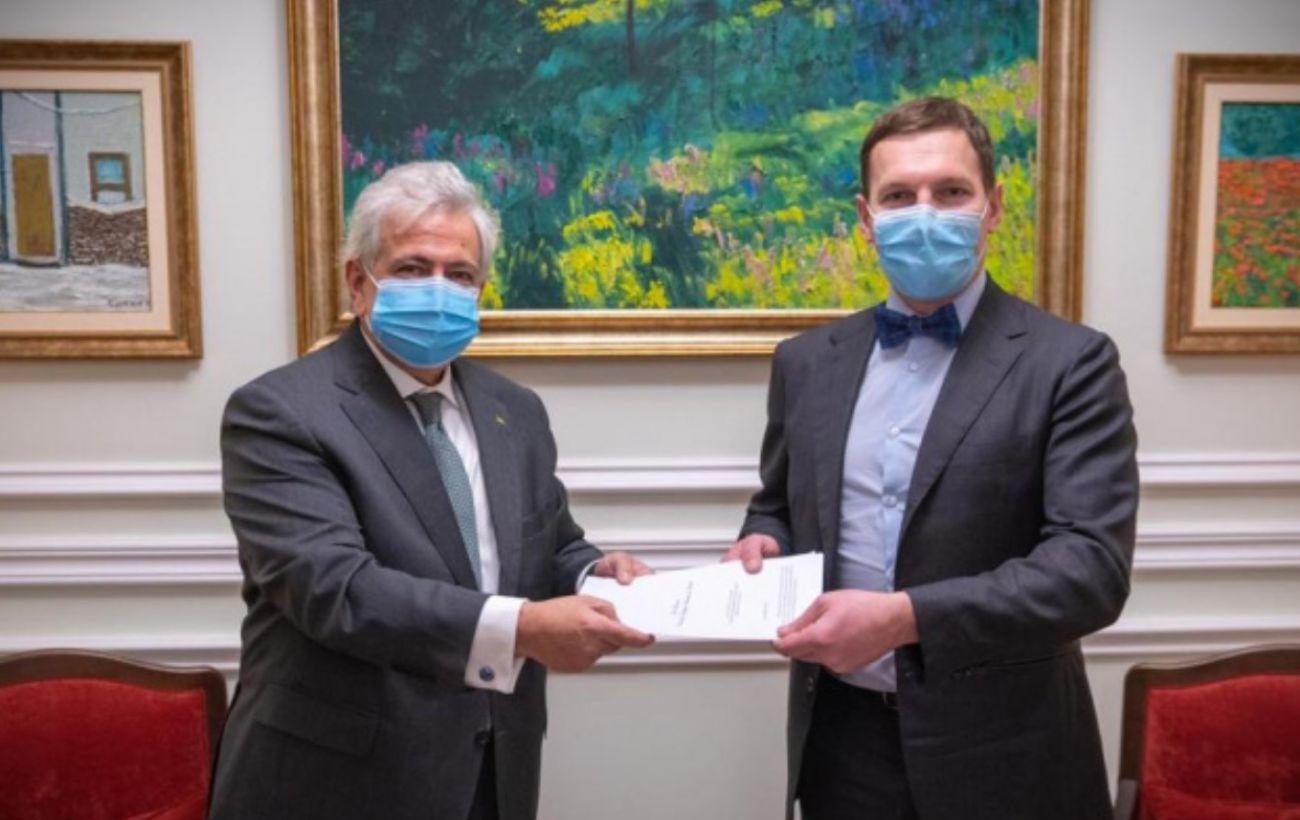 Новый посол Бразилии приехал в Украину