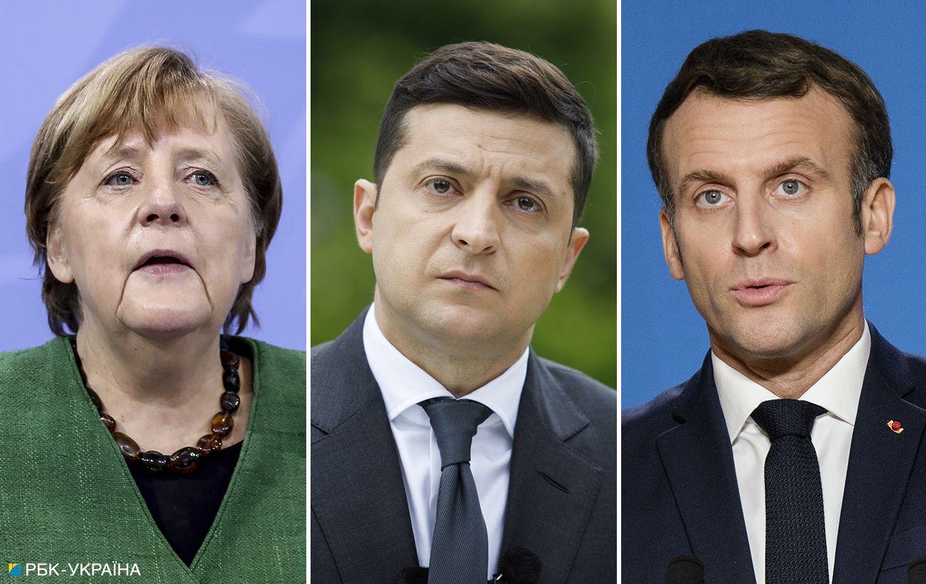Встреча Зеленского, Макрона и Меркель пройдет сегодня в Париже: что известно