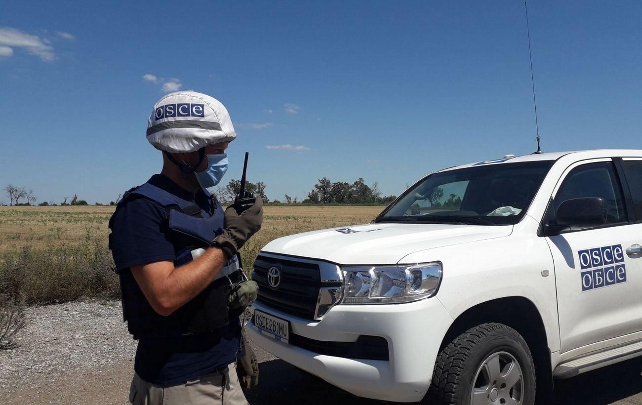 В оккупированной Васильевке боевики обстреляли беспилотник ОБСЕ