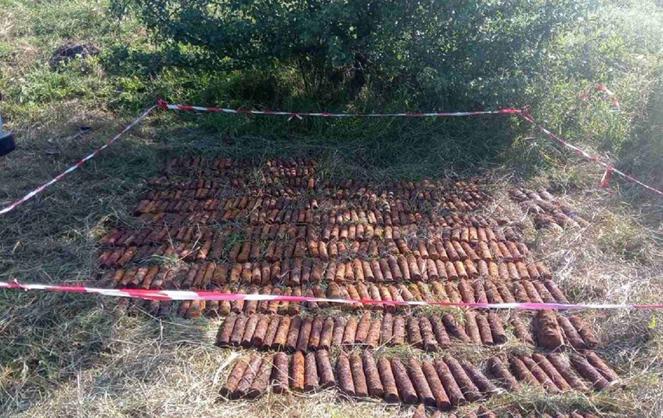 В Николаевской области в поселке нашли 500 снарядов времен прошлых войн